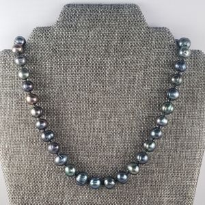 REAL - 11mm Gray Peacock Pearls